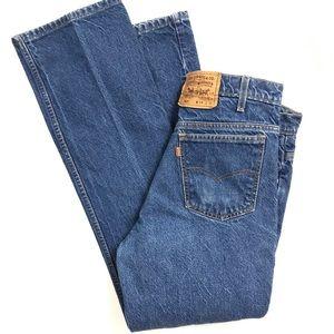 Vtg LEVIS 517 Jeans Orange tab made in USA